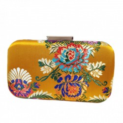 Clutch Estampado mostaza